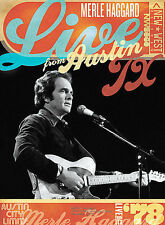 DVD Merle Haggard - LIVE FROM AUSTIN, TX 78 NEW