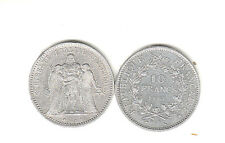 Objet de collection pièce de monnaie  Hercule 10Fr  1966