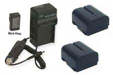 TWO BN-V408 Batteries + Charger for JVC GR-D70U GR-D72U GR-D73U GR-D90U GR-D93U