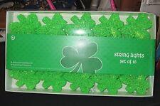 6 FT STRING OF SHAMROCKS LIGHTS- IRISH St. Patrick's PARTY TIKI BAR DECORATIONS