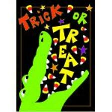Halloween Trick Or Treat Alligator Eating Candy Corn Garden Flag