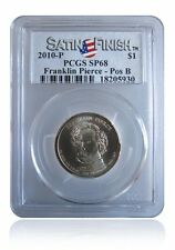 PCGS SP68 MS68 2010-P Franklin Pierce Presidential Dollar Pos B Satin Finish