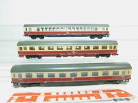 BM273-1# 3x Roco H0/AC Personenwagen DB NEM: 19-90 518 + 18-90 021 etc