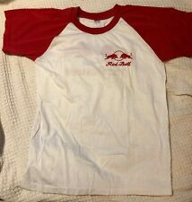 Red Bull Logo T-Shirt Red White Thailand Size Medium 100% Cotton Short Sleeve