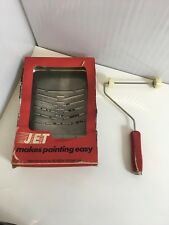 Vintage Paint Tray & Roller - Red Wooden Handle- Boxed Tray JET