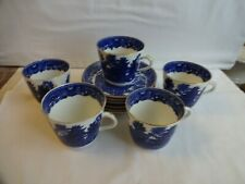 Vintage - Willow Pattern - Cups and Saucers x 5