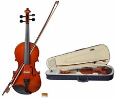 4/4 Full Size Natural Acoustic Violin Fiddle With Case Row Rosin Wood Color New