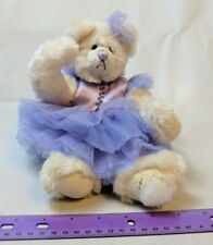 Bartons Creek Collection Genevieve Teddy Bear in Purple Plush Stuffed Animal TLC