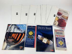 TWA Airlines Vintage Lot Menu Ambassadors Worldwide Timetable Duty Free Magazine
