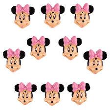 10 pcs Minnie Resin Flatback Scrapbooking Hair Bow Center Crafts Making