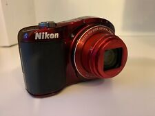 Pre-owned Working Nikon Coolpix L610 16MP 14x Optical Zoom  Red Digital Camera