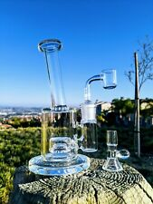 "7"" Premium Quality Glass Rig Cerc Perc Combo Tobacco Smoking Water Pipe Bong"