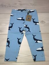 Joules Baby Girls leggings Blue Whales 9-12 months