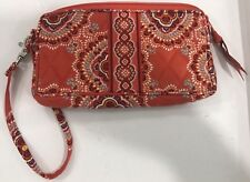 Vera Bradley Retired Rare Paprika Orange Wristlet Pouch