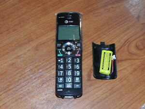 New - Accessory Handset for AT&T Cordless Phone Systems CL83519 - Black