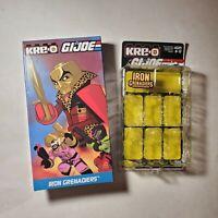 EMPTY BOX Iron Grenadiers KRE-O Figure Pack GI Joe Pimp Destro Kreo SDCC 2015