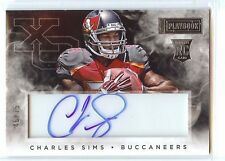 2014 PANINI PLAYBOOK XO ROOKIE RC AUTO ACETATE CHARLES SIMS #46/75 BUCCANEERS