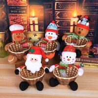 Food Santa Claus Basket Merry Christmas Decoration Baskets Party Xmas Gift Decor