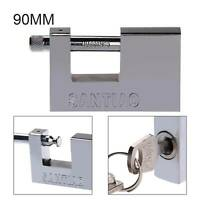 90MM HEAVY DUTY SHUTTER PADLOCK HIGH SECURITY ANTI RUST SHACKLE PAD LOCK UK