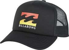 BILLABONG MENS BASEBALL CAP.NEW PODIUM MESH TRUCKER BLACK CURVED PEAK HAT 8S 665