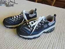 Mens Skechers Steel Toe Work Boots Shoes Size 9 M Navy Grey Black