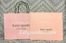 Kate Spade Lot of 2 Gift Box Size 10 x 6 x 2.5 Shopping Bag 10 x 8 x 4.5 Pink