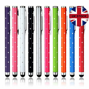 2 x HIGH QUALITY CRYSTAL EFFECT STYLUS PEN FOR APPLE ANDROID TABLET