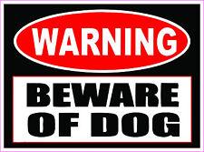 """WARNING"" BEWARE OF DOG Bumper sticker  #246"