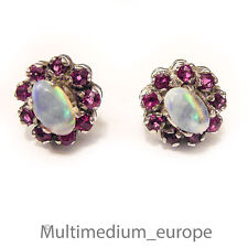 Silber Ohrringe Rubin Opal silver earrings ruby opaline  🌺🌺🌺🌺🌺