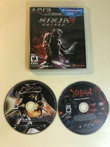 Ninja Gaiden PS3 Lot - Ninja Gaiden Sigma, Ninja Gaiden 3, Yaiba Z - 3 Games