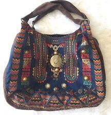 Anthropolgie Jasper and Jeera Embroidered Hobo Bag Bohemian EUC