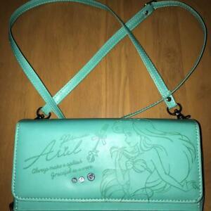 Disney Long Wallet Ariel Little Mermaid Shoulder wallet Disney Store Green