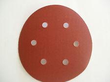 240 GRIT HOOK & LOOP ABRASIVE SANDING PADS - DISCS 150mm 10pk B8074
