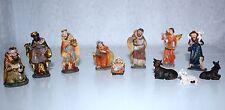 Krippenfiguren 11-tlg 1,7 bis 5,5 cm h -> Krippenzubehör Polyresin Weihnachten