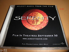 SERENITY firefly movie CD CD-R 4 track PROMO from soundtrack joss whedon