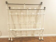 Antique Bed Ends Original Cast Iron and Brass