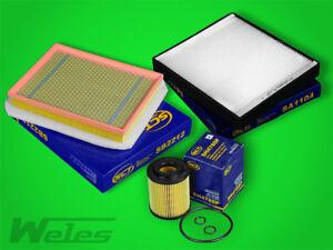INSPEKTIONSPAKET OPEL ZAFIRA B 1,7 CDTI Diesel Luftfilter Pollenfilter Ölfilter