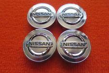 4 Nabenabdeckungen/Radkappen für Alufelgen von Nissan in chrom