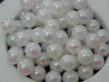 1000+ wholesales 4mm WHITE opaque Round acrylic plastic loose beads