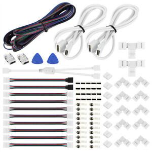 LED Strip Verbinder Set RGB/LED Verbinder Streifen DIY für Alle Stripe Anschluss