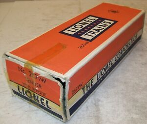 Lionel Postwar 2671W PA Tender With Whistle Original 2-City BOX ONLY ~ VG-