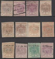 France Dimension Manteau Revenues 1865//1871 12 diff used stamps Yvert cv $135