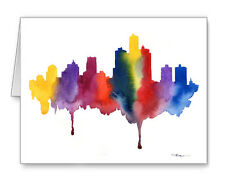 Detroit Skyline Note Cards With Envelopes