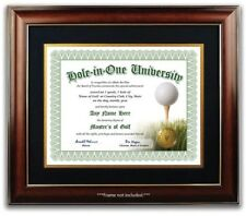 Hole In One University Personalized Custom Golf Certificate w/Gold Seal Novelty