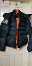 Ralph Lauren Polo Jeans Co Men's Goose Down Black Puffer Coat Jacket XL EUC