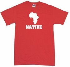 Africa Continent Silhouette Native Mens Tee Shirt Pick Size Color Small-6XL