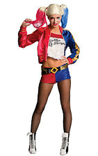 Ladies Harley Quinn Suicide Squad Costume Halloween Fancy Dress Outfit Small 820118