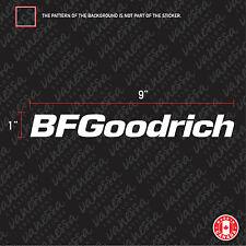 "8/""  BFGOODRICH vinyl decal 2 color custom vinyl decal any surface S470 2"