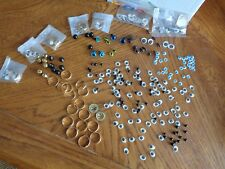 Large lot of Craft Eyes,Gold Rings,Bells ,Beads Look