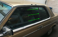 Mercedes W123 C123 123 Coupé CE CD vertikale Dichtung Fenster hinten Seal Rubber